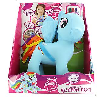 My Little Pony Scribble Me Colour In Washable Soft Toy 30cm- Rainbow Dash