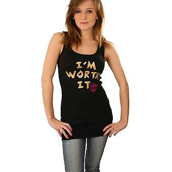 W.A.T Kitson 'I'm Worth It' Black Vest
