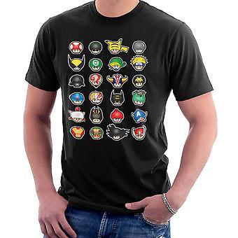 Super Mario Know Your Mushrooms Men's T-Shirt
