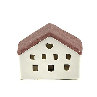 Light-Glow Mini House with LED, Red