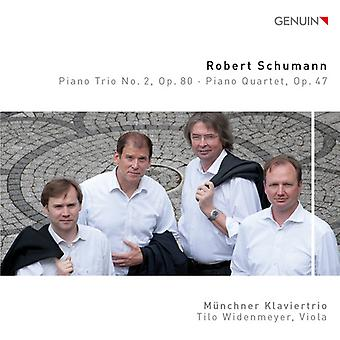 Schumann / München klavertrio / Widenmeyer - klaver Trio No. 2 Op. 80 - klaver kvartetten Op. 47 [CD] USA import