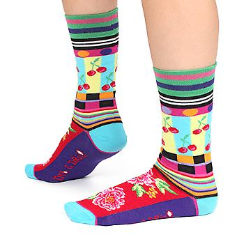 Cherry men's silly cotton dress socks | Designed in France by Dub & Drino