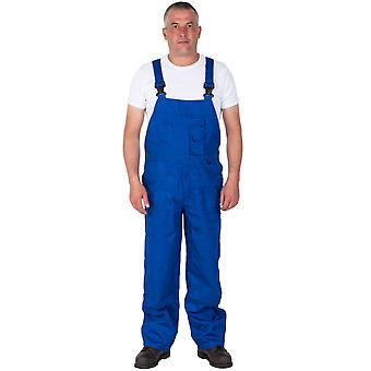 Bib and Brace - Nine Pocket - Royal Blue Mens Work Bib Overalls Industrial