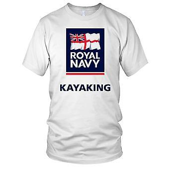 Königliche Marine Kayak große Fahne Kinder T Shirt