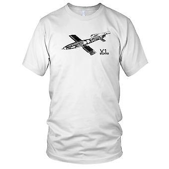 V1 Bomb WW2 World War German Weapon Kids T Shirt