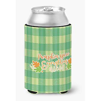 Carolines Treasures  BB6923CC Fall Pumpkin Spice Gingham Can or Bottle Hugger
