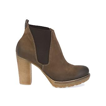 Donnapiu' women's 7931FANGO brown leather ankle boots