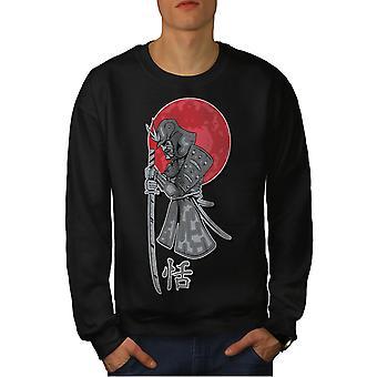 Japan Samurai Sun Men BlackSweatshirt | Wellcoda
