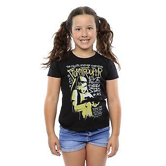 Star Wars ragazze Rock Stormtrooper Poster t-shirt