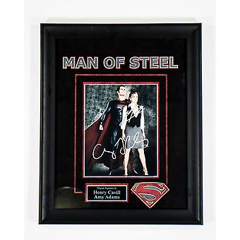 Superman Man of Steel - Signed by Henry Cavill and Amy Adams - Framed Artist Series