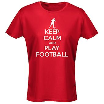Keep Calm And Football Womens T-Shirt 8 Colours (8-20) by swagwear