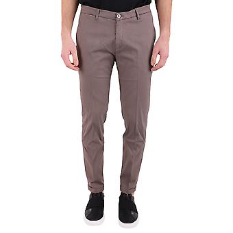 Re-hash men's P249MUCHA22770348 Brown cotton trousers