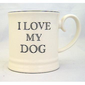Fairmont & Main Tankard Mug, I Love My Dog