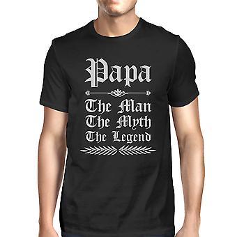 Vintage Gothic Papa Mens Black Pure Cotton Made T T-Shirt Funny Joke