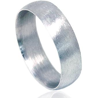 6mm Platinum Matte Finish Wedding Band