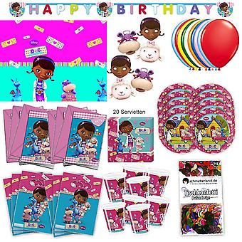 Док McStuffins партии установить XL 73-teilig для 6 гостей McStuffinsparty день рождения украшение партии пакета