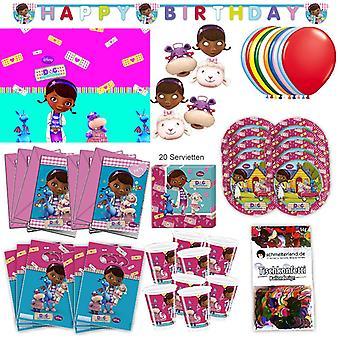 Doc McStuffins party set XL 73-teilig for 6 guests McStuffinsparty birthday decoration party package