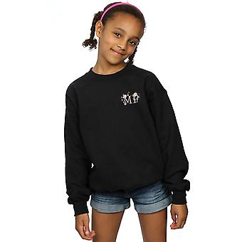 Disney Girls Mary Poppins Letter Breast Print Sweatshirt