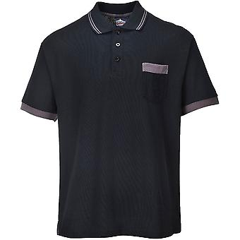 Portwest Mens Texo Contrast Polycotton Workwear Polo Shirt