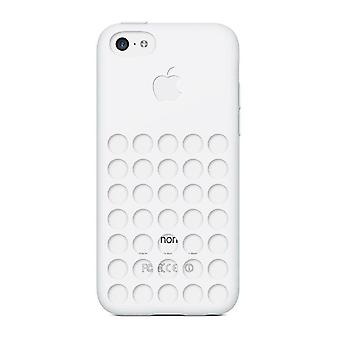 Apple MF039ZM/A silicone couvercle cas, iPhone 5c en blanc