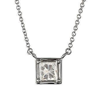 Forever Classic Square 4,5 mm Moissanite hängsmycke halsband, 0.60ct DAGG