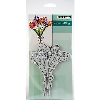 Penny Black Cling Stamps-Tulip Bouquet
