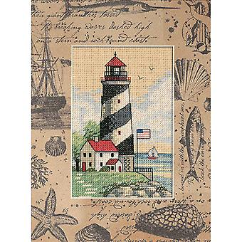 Matted Accents Light At Sea Counted Cross Stitch Kit-8