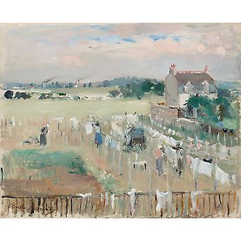 Hanging the Laundry out to Dry,Berthe Morisot,50x40cm