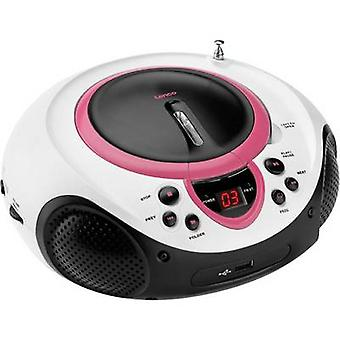 Lenco SCD-38 USB FM Radio/CD AUX, CD, FM, USB Pink
