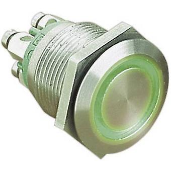 Bulgin MPI002/TERM/GN Tamper-proof pushbutton 24 Vdc 0.05 A 1 x Off/(On) IP66 momentary 1 pc(s)