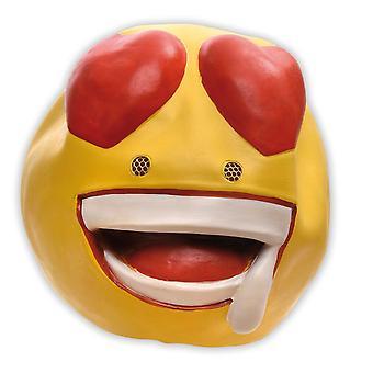 Emoticon cuore cuori di maschera ridere allegro sorriso di maschera di risate