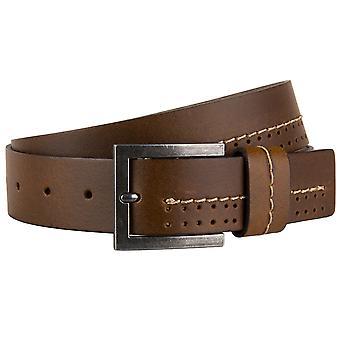 s.Oliver mens leather buckle riem lederen riem 97.804.95.4959-8789