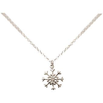 Gemshine - ladies - collana - ciondoli - fiocco di neve - argento 925 - cm 1,5