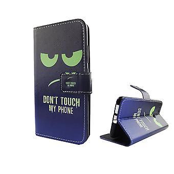 Raak niet mijn telefoon mobiele zaak Huawei Nova gepantserde bescherming klep lampen Wallet case