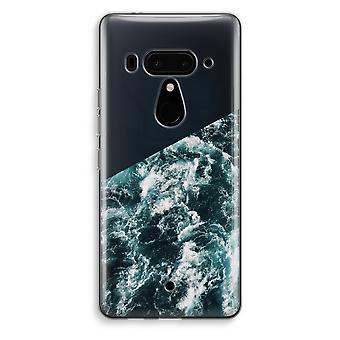 HTC U12+ Transparent Case (Soft) - Ocean Wave