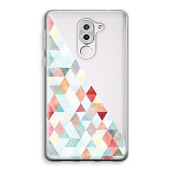 Honor 6X Transparent Case (Soft) - Coloured triangles pastel