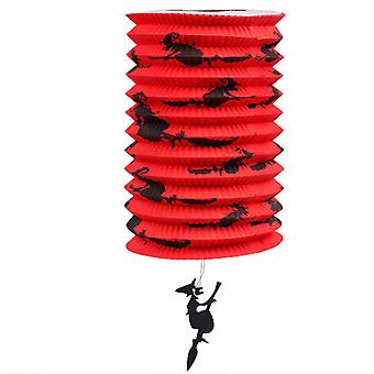 TRIXES Pop Up Red Witch Barrel Lamp Halloween Party Decoration Lantern