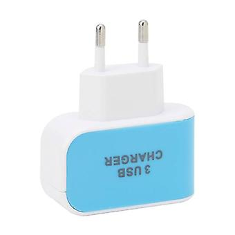 Stuff Certified ® Triple (3x) USB Port iPhone / Android 5V - 3.1A Wall Charger Wall Charger AC Home Blues
