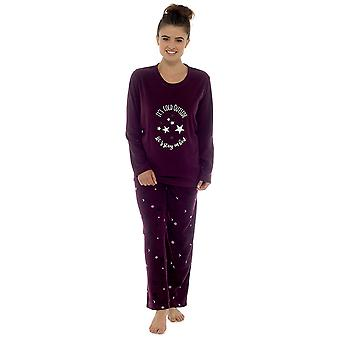 Tom Franks Womens Night Printed Microfleece Long Twosie