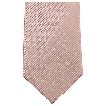 Knightsbridge Neckwear Plain Diagonal Ribbed Tie - Beige