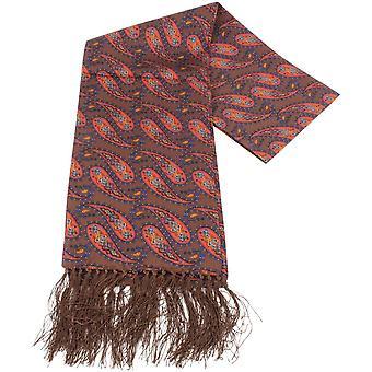 Knightsbridge cravatte Paisley Sciarpa di seta - marrone/arancio