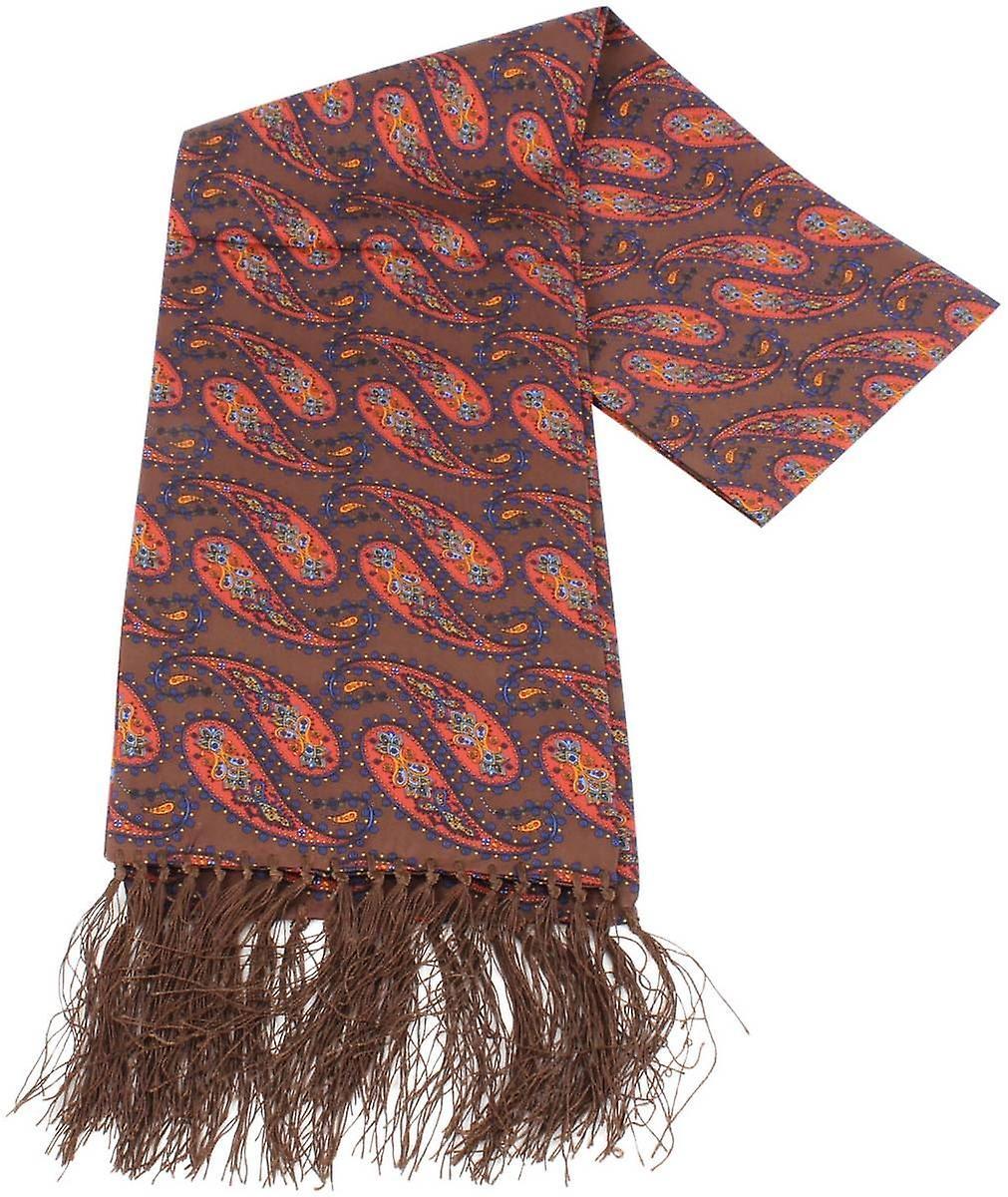 Knightsbridge Neckwear Paisley Silk Scarf - marron Orange