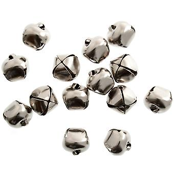100 Silver 12mm Jingle Bells for Crafts | Craft Bells