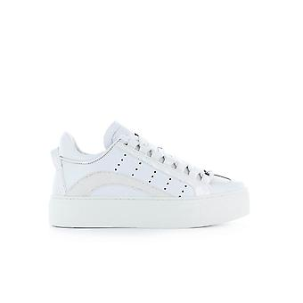 DSQUARED2 551 MAXI SOLE WHITE GLITTER SNEAKER