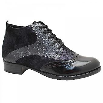 Remonte Brogue Style Lace Up Ankle Boot