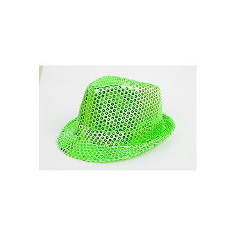 Vert vif de chapeaux paillettes chapeau