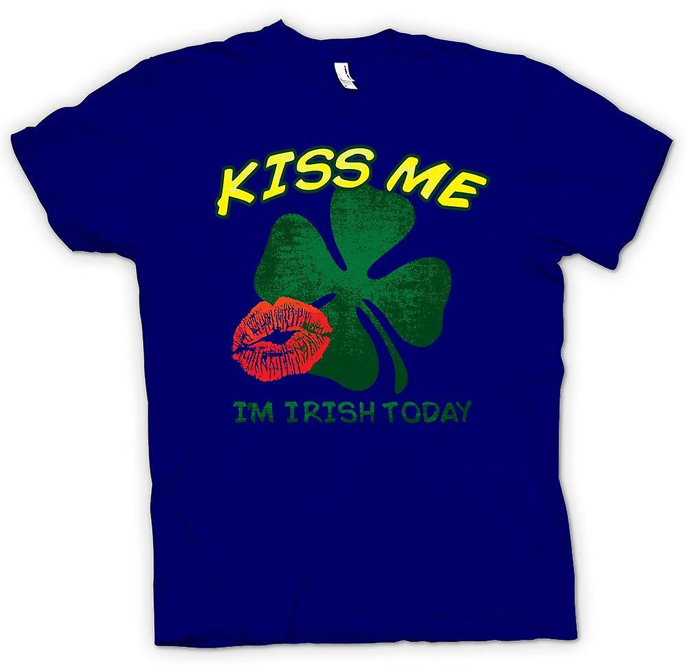 Mens T-shirt - St Patricks Day - Kiss Me I'm Irish Today