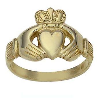 9kt guld herretoilettet Claddagh Ring størrelse Rasmussen