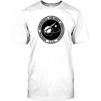 NASA Abzeichen B&W - Space Exploration Herren T Shirt