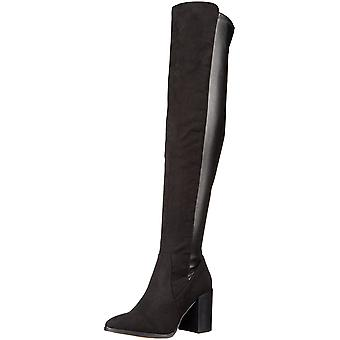 Report Womens Jetsan Fabric Pointed Toe Over Knee Riding Boots
